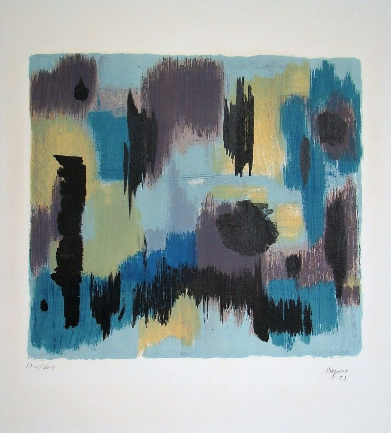 Lithograph Bazaine - Composition, 1957