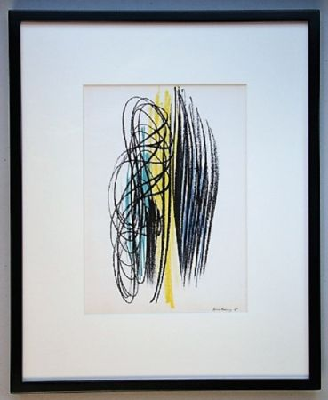 Lithograph Hartung - Composition 1958
