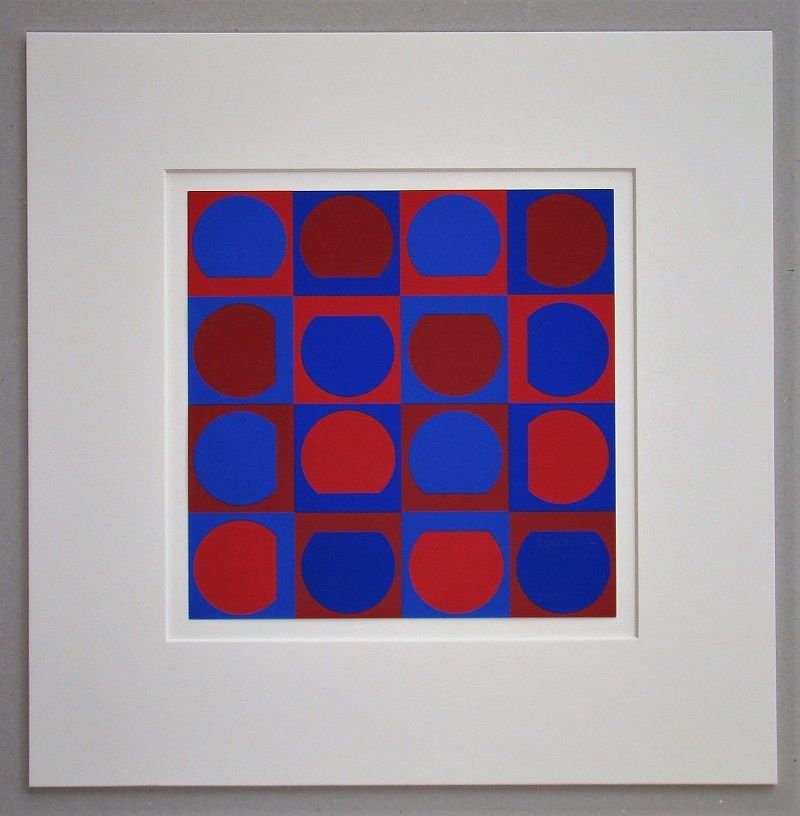 Screenprint Vasarely - Composition 1964