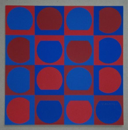 Screenprint Vasarely - Composition, 1964