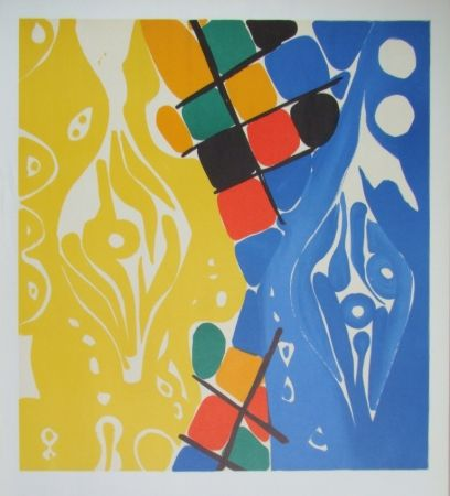 Lithograph Nay - Composition 1966-1