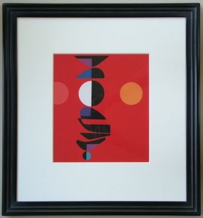 Screenprint Pillet - Composition, 1967