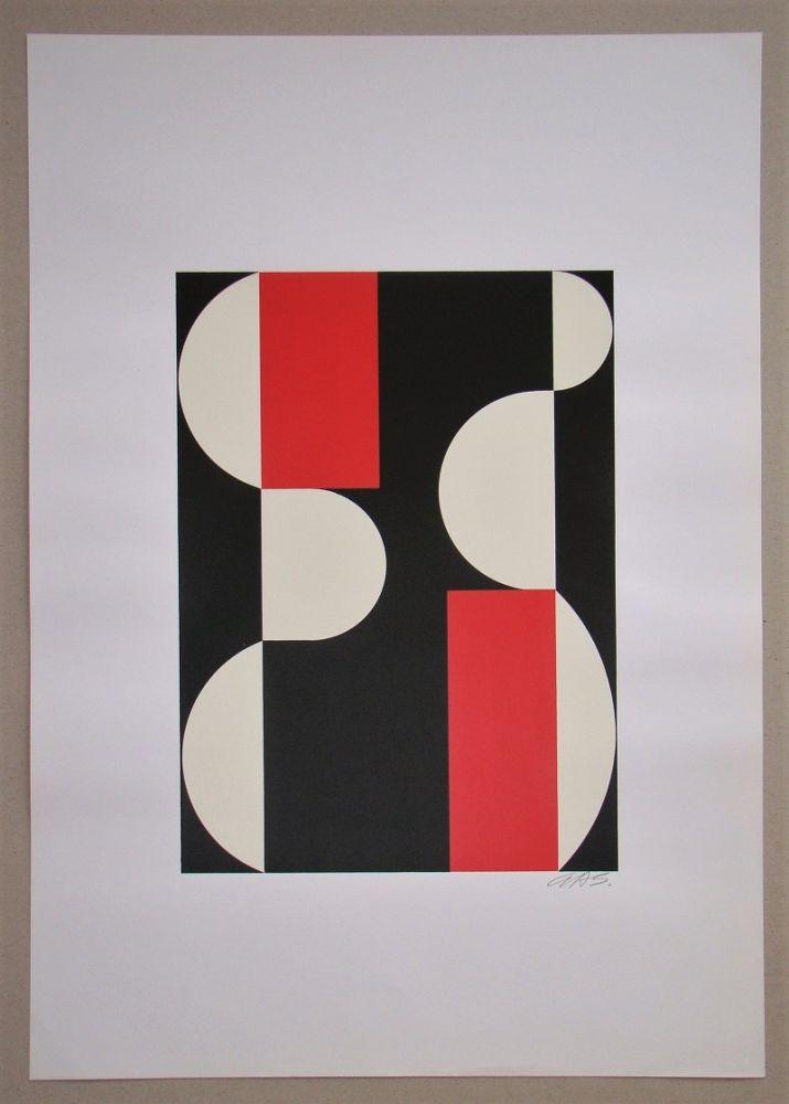Screenprint Béöthy Steiner - Composition, 1970