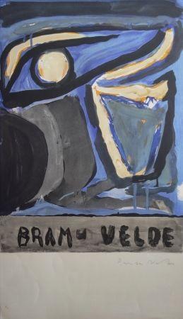 Lithograph Van Velde - Composition 1970