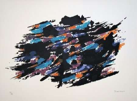 Lithograph Manessier - Composition, 1971