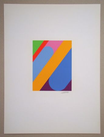 Screenprint Béöthy Steiner - Composition, 1972