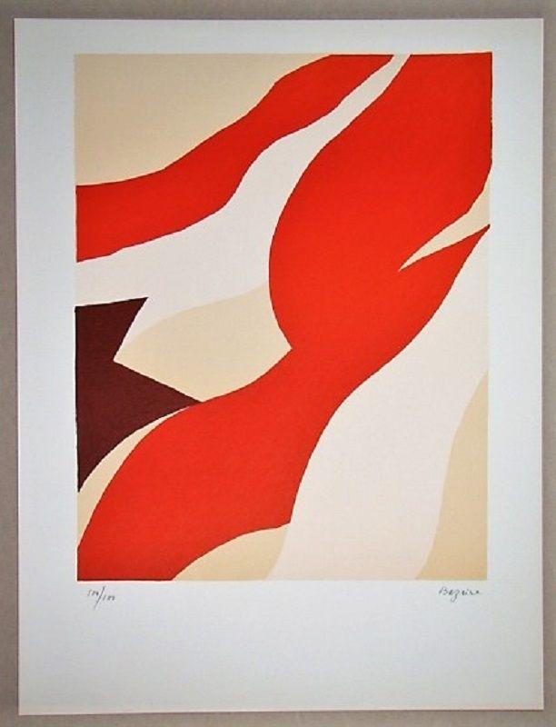 Lithograph Bazaine - Composition 1974