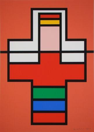 Screenprint Vandenbranden - Composition, 1988