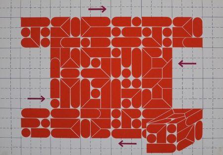 Lithograph Gräsel - Composition 2