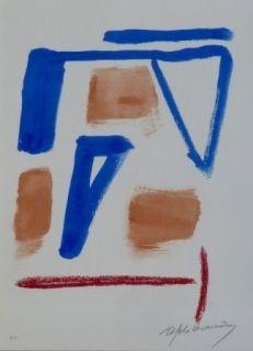 Lithograph Ràfols Casamada - Composition 20