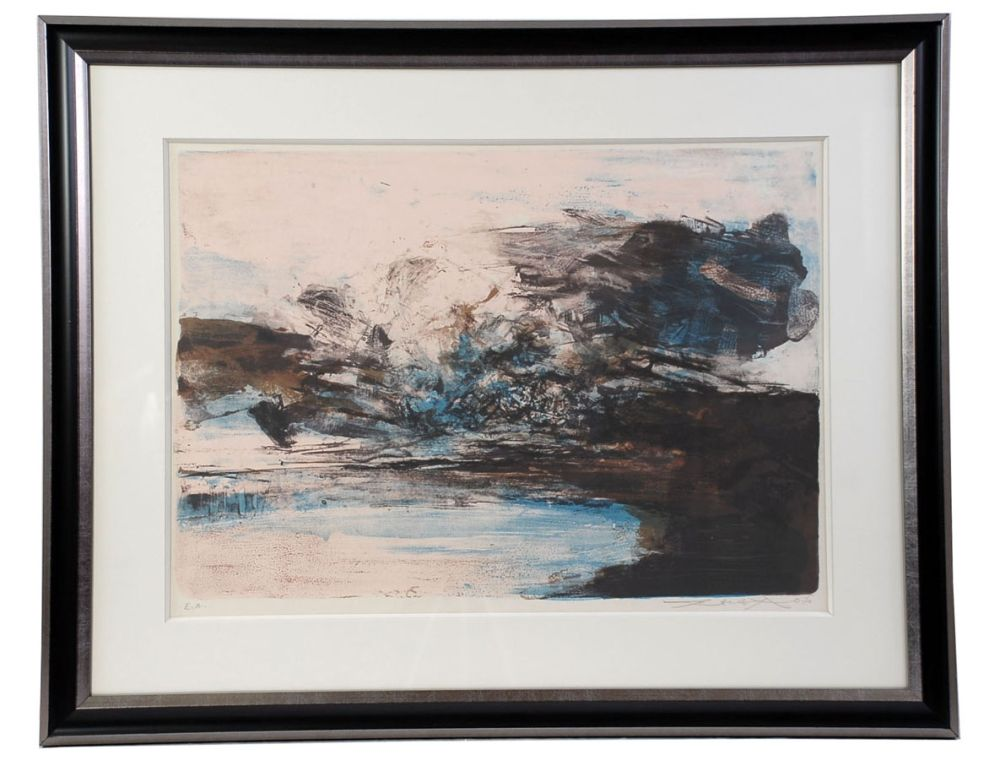 Lithograph Zao - Composition 207