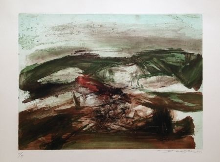 Etching And Aquatint Zao - Composition 214