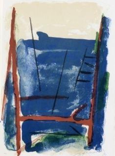Lithograph Ràfols Casamada - Composition  25