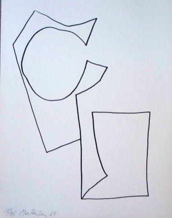 Lithograph Mortensen - Composition 3