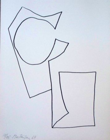 Lithograph Mortensen - Composition 3