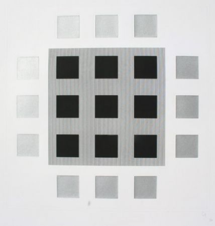 Etching And Aquatint Soto - Composition 3
