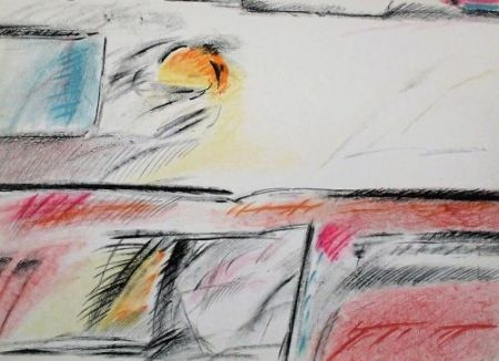 Lithograph Ràfols Casamada - Composition 3
