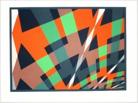 Lithograph Hinterreiter - Composition 3