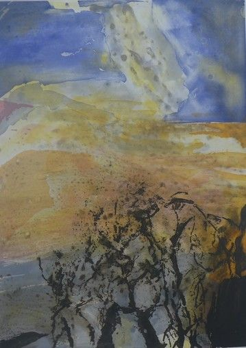 Etching And Aquatint Zao - Composition 340