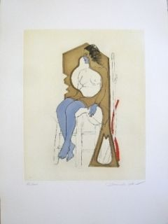 Etching And Aquatint Jean - Composition 4
