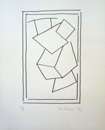 Lithograph Mortensen - Composition 4