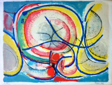 Lithograph Bolin - Composition 5