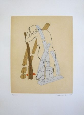 Etching And Aquatint Jean - Composition 5