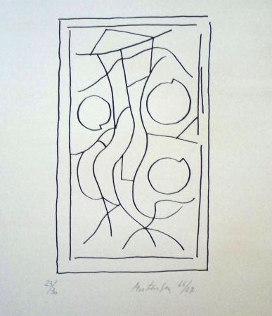 Lithograph Mortensen - Composition 5