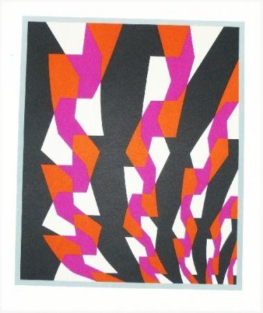 Lithograph Hinterreiter - Composition 5