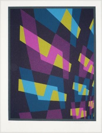 Lithograph Hinterreiter - Composition 6