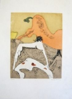 Etching And Aquatint Tanning - Composition 7
