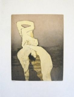 Etching And Aquatint Tanning - Composition 9