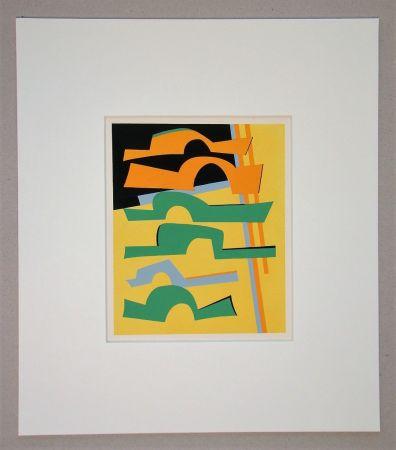 Screenprint Magnelli -  Composition abstrait
