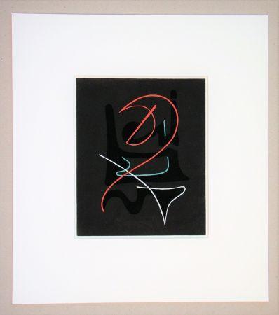 Pochoir Domela - Composition abstrait