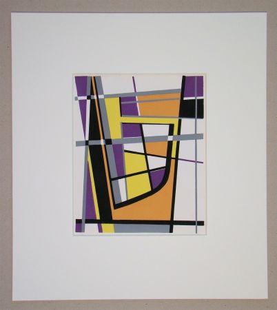 Pochoir Leppien - Composition abstrait