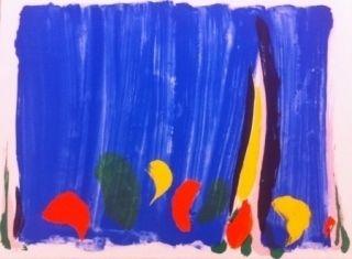 Lithograph Debré - Composition abstrait