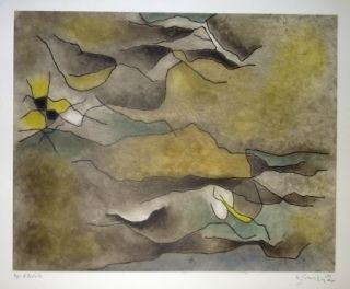 Etching And Aquatint Singier - Composition abstraite
