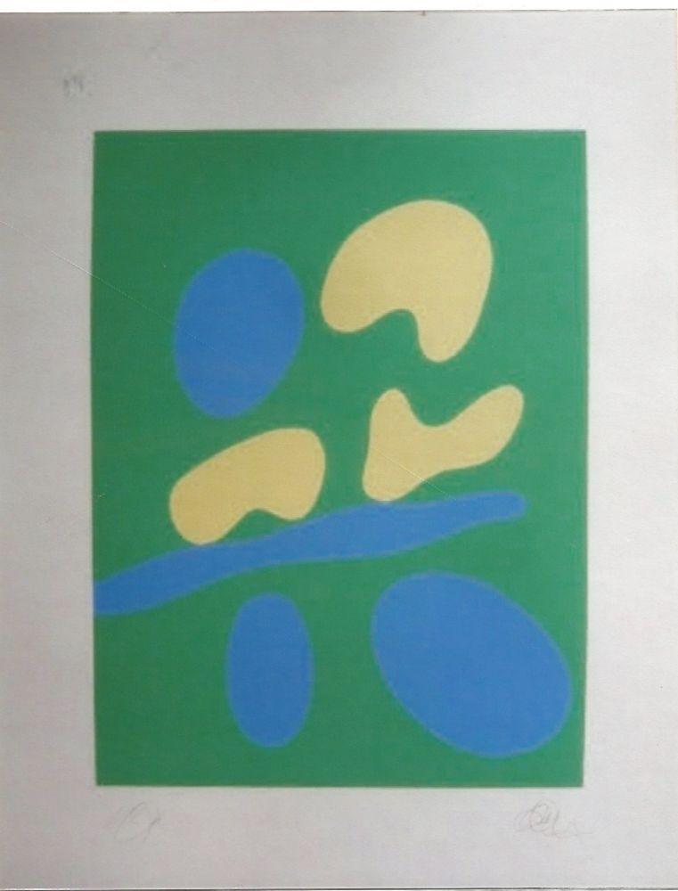 Screenprint Arp - Composition abstraite