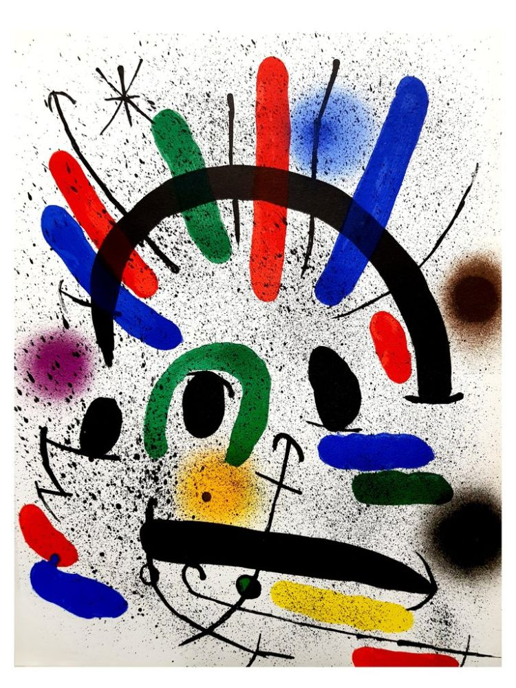 Lithograph Miró - Composition Abstraite