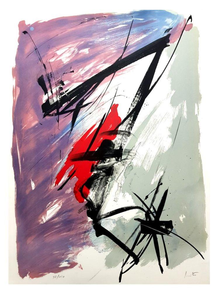 Lithograph Miotte - Composition Abstraite