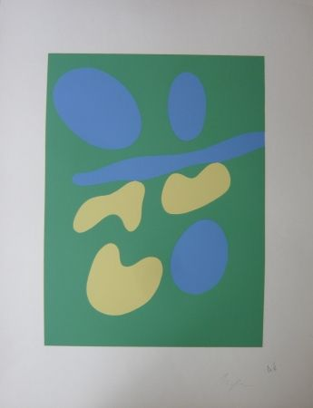 Screenprint Arp - Composition Abstraite
