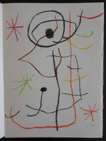 Lithograph Miró - Composition abstraite