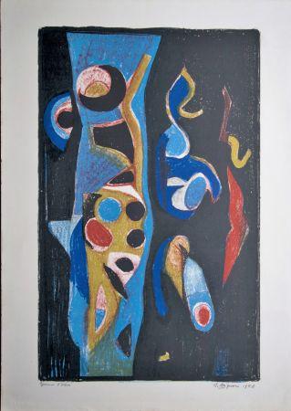 Lithograph Brignoni - Composition abstraite