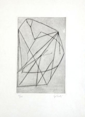 Etching Gilioli - Composition abstraite