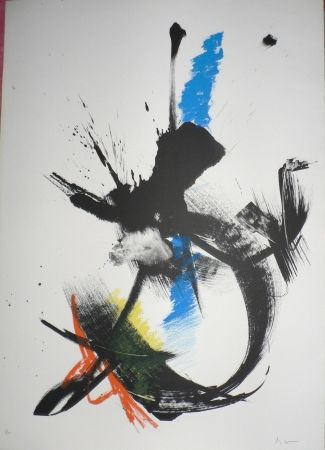Lithograph Miotte - Composition abstraite VIII