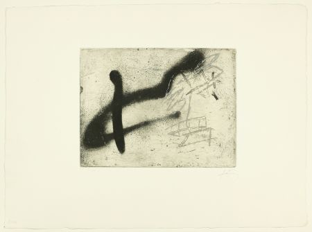 Etching Tàpies - Composition au A renversé