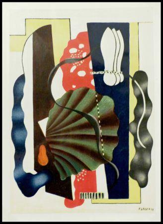 Lithograph Léger (After) - COMPOSITION AU COQUILLAGE