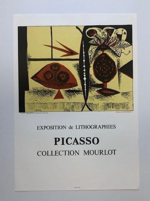 Poster Picasso - Composition au vase de fleurs