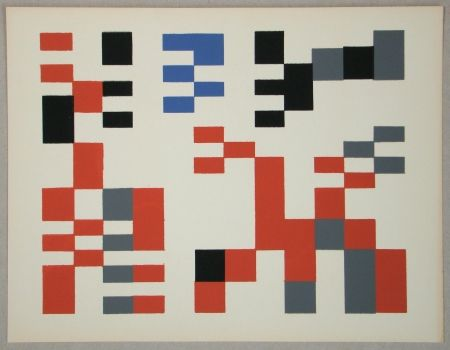 Screenprint Taeuber-Arp - Composition Aubette - Relief 1927