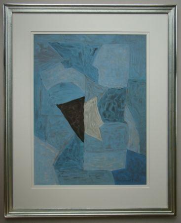 Lithograph Poliakoff - Composition bleue